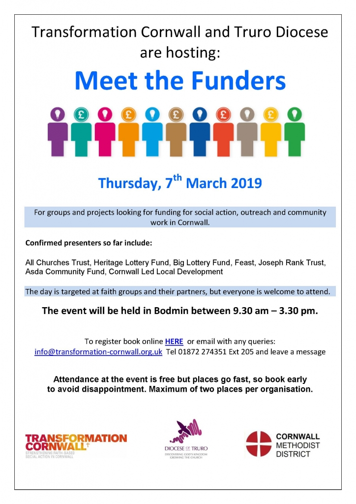 Transformation Cornwall - Meet the Funders - Bodmin - St